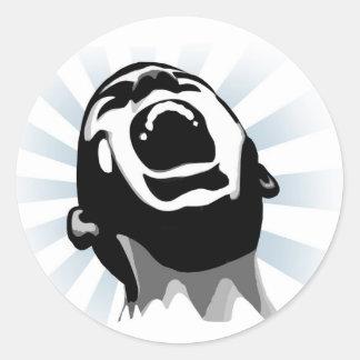 Halo del grito pegatina redonda