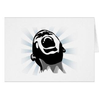Halo del grito tarjeta de felicitación