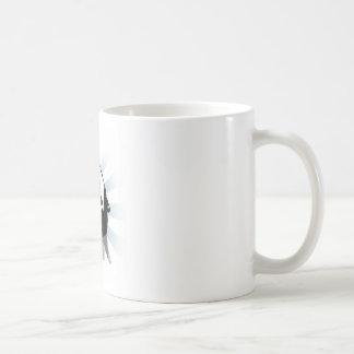 Halo del grito taza básica blanca
