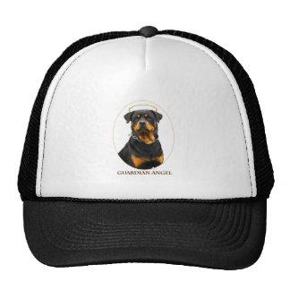 halo del rottweiler del ángel de guarda gorra