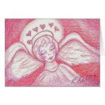 Halo of Hearts Valentine Angel Card
