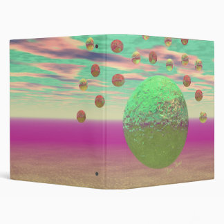 Halo of Moons, Abstract Colorful Cosmos 3 Ring Binders