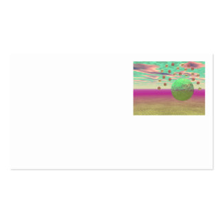 Halo of Moons, Abstract Colorful Cosmos Business Cards