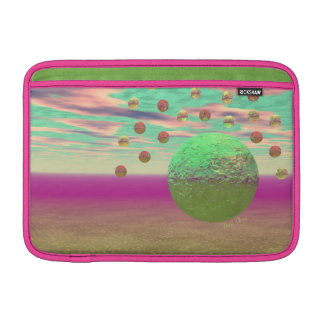 Halo of Moons, Abstract Colorful Cosmos MacBook Air Sleeve