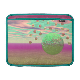 Halo of Moons, Abstract Colorful Cosmos MacBook Air Sleeves