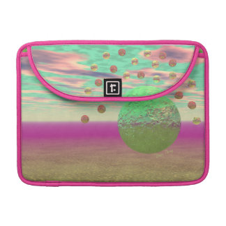 Halo of Moons, Abstract Colorful Cosmos MacBook Pro Sleeve