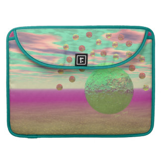 Halo of Moons, Abstract Colorful Cosmos Sleeve For MacBook Pro