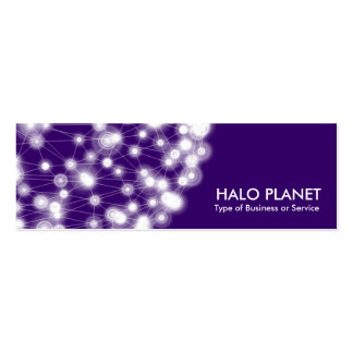 Halo Planet - Deep Purple Business Cards