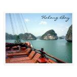 halong bay boat post cards