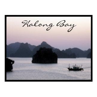 halong bay silhouette postcard