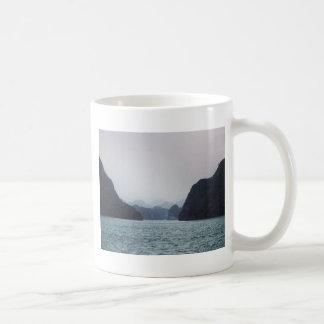 Halong Bay Soft blue, dreamy, mountains and water Coffee Mug