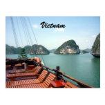 halong boat postcard