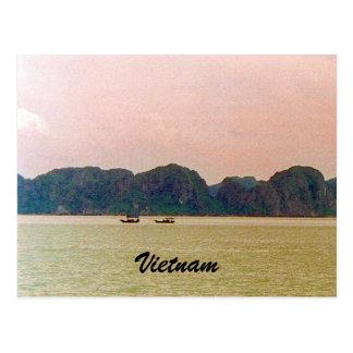 halong boats postcard