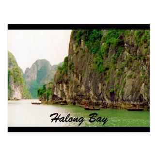 halong cliffs postcard