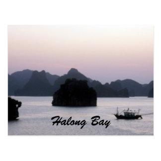 halong silhouette postcard