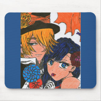 Haloween couples mouse pad