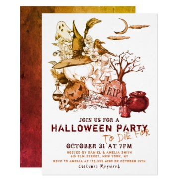Haloween Party To Die For   Holidays Invitation
