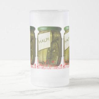 Halp #FreeThePickle | #jWe | #Weee! Frosted Glass Beer Mug