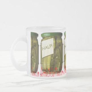 Halp #FreeThePickle | #jWe | #Weee! Frosted Glass Coffee Mug