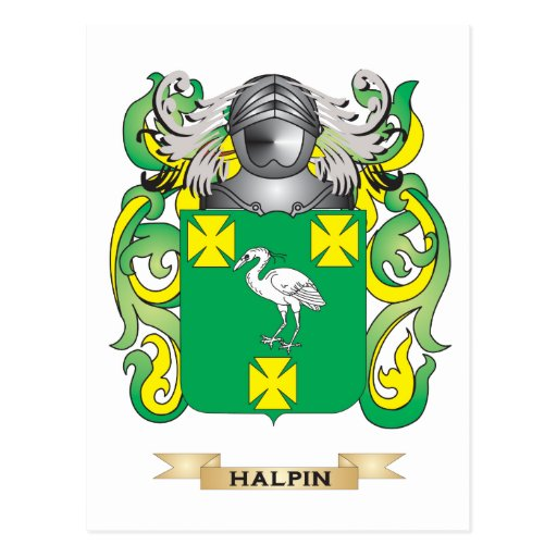 Halpin Coat of Arms (Family Crest) Postcards