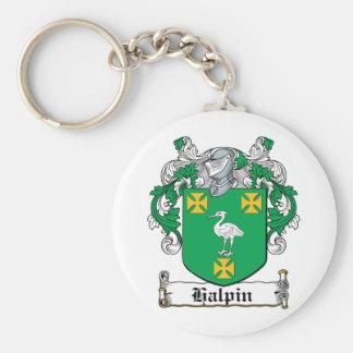 Halpin Family Crest Basic Round Button Keychain