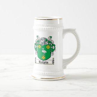 Halpin Family Crest Beer Stein