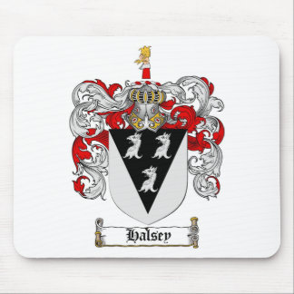 HALSEY FAMILY CREST -  HALSEY COAT OF ARMS MOUSE PAD