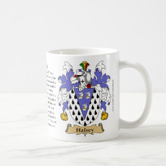 Halsey, the Origin, the Meaning and the Crest Classic White Coffee Mug