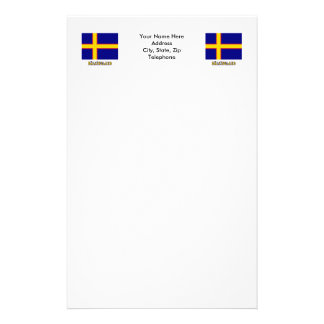 Hälsingland flag with name (unofficial) personalized stationery