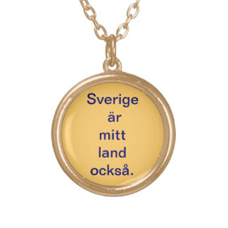 Halssmycke with messages gold plated necklace