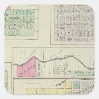 Halstead, Annelly, Hesston, McLain, Walton, Kansas Square Sticker