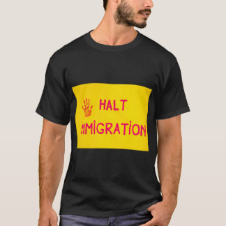 HALT  IMMIGRATION  Men's Basic Dark T-Shirt