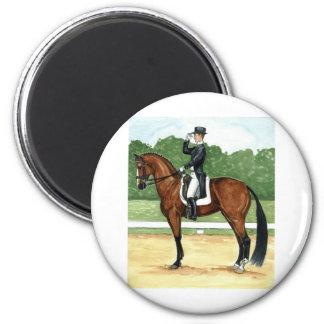 Halt, Salute at X Dressage Art Bay Horse Magnet