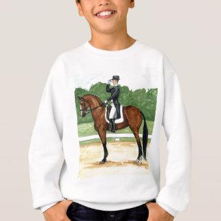 Halt, Salute at X Dressage Art Bay Horse Sweatshirt