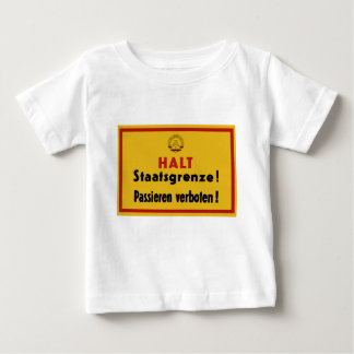 Halt Staatsgrenze! Berlin Wall, Germany Sign Baby T-Shirt