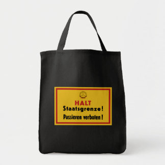 Halt Staatsgrenze! Berlin Wall, Germany Sign Grocery Tote Bag