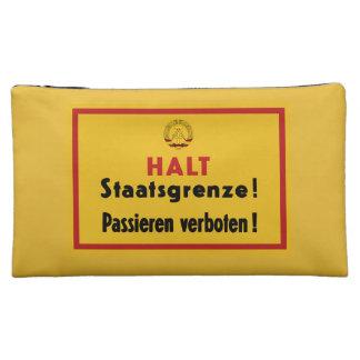 Halt Staatsgrenze! Berlin Wall, Germany Sign Cosmetics Bags