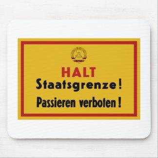 Halt Staatsgrenze! Berlin Wall, Germany Sign Mouse Pad