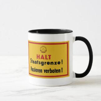Halt Staatsgrenze! Berlin Wall, Germany Sign Mug