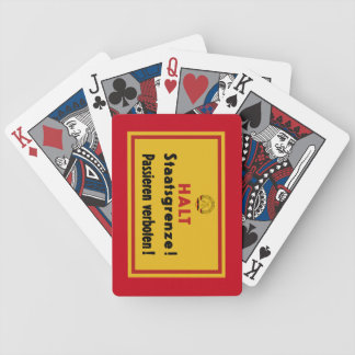 Halt Staatsgrenze! Berlin Wall, Germany Sign Bicycle Playing Cards