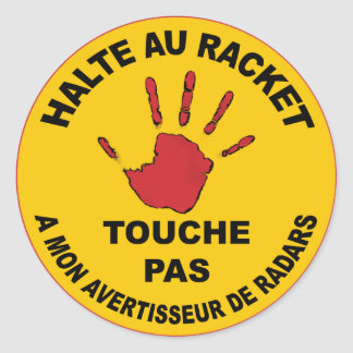 Halt with the Racket - Sticker