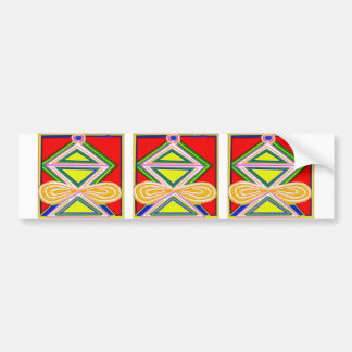 HALU HALOO Karuna Reiki - Tripod Triangle Symbols Car Bumper Sticker