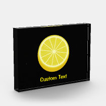 Halve Lemon Acrylic Award
