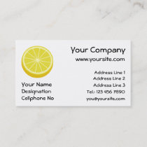 Halve Lemon Business Card