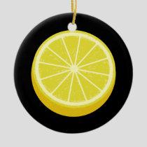 Halve Lemon Ceramic Ornament