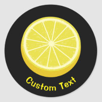 Halve Lemon Classic Round Sticker