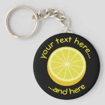 Halve Lemon Keychain