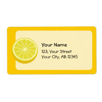 Halve Lemon Label
