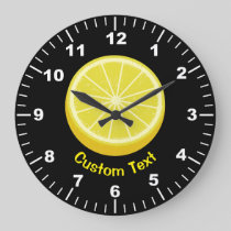 Halve Lemon Large Clock
