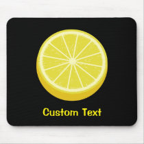 Halve Lemon Mouse Pad